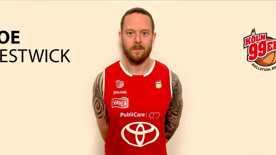 Joe Bestwick zurück im Trikot der Köln 99ers
